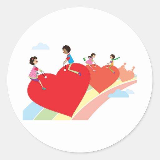 The rainbow of love sticker