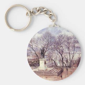 The Raised Terrace of the Pont Neuf, Place Henri Basic Round Button Key Ring