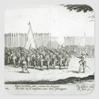 The Raising of an Army Square Sticker