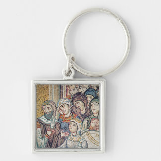 The Raising of Jairus's Daughter Silver-Colored Square Key Ring