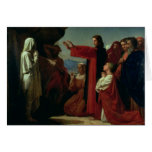 The Raising of Lazarus, 1857 Card