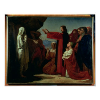 The Raising of Lazarus, 1857 Poster