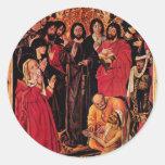 The Raising Of Lazarus Altar Triptych Central Pane Sticker