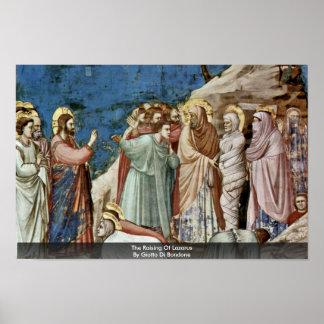 The Raising Of Lazarus By Giotto Di Bondone Poster
