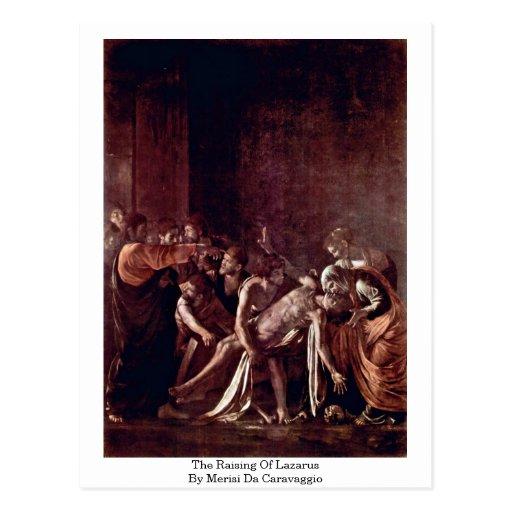 The Raising Of Lazarus By Merisi Da Caravaggio Post Cards