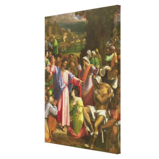 The Raising of Lazarus, c.1517-19 Canvas Print