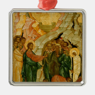 The Raising of Lazarus, Russian icon Christmas Ornament