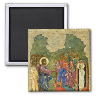The Raising of Lazarus, Russian icon Magnet