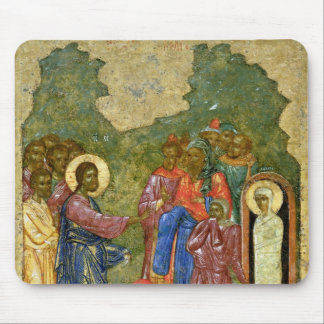 The Raising of Lazarus, Russian icon Mouse Mat