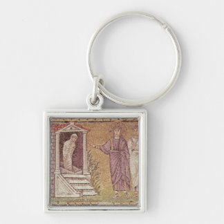 The Raising of Lazarus Silver-Colored Square Key Ring