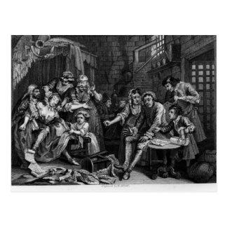 The Rake in Prison, plate VII Postcard