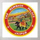 The Rambagh Palace Jaipur, Vintage Poster