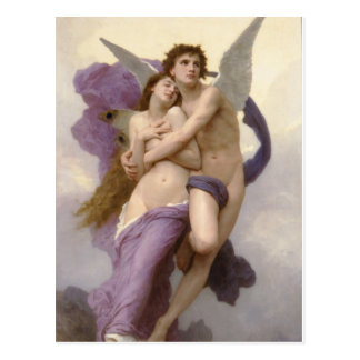 The Rapture of Psyche by William Bouguereau Postcard