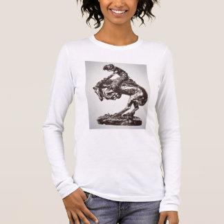 The Rattlesnake, 1905 (bronze) (b/w photo) Long Sleeve T-Shirt