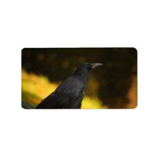 the raven address label