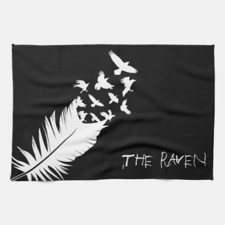 The Raven, Black and White Kitchen Towels