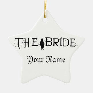 The Raven Bride Ceramic Star Decoration
