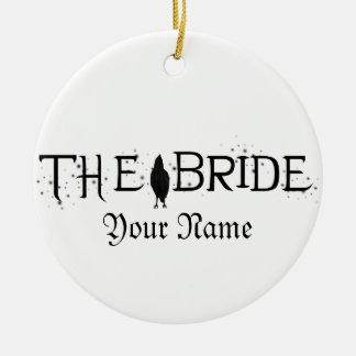 The Raven Bride Round Ceramic Decoration