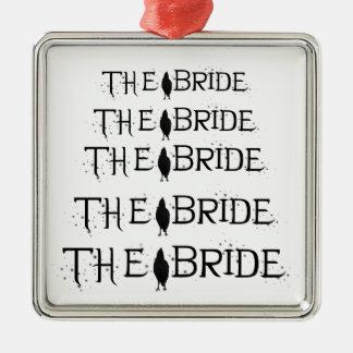 The Raven Bride Silver-Colored Square Decoration