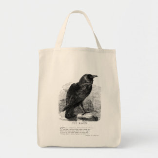 The Raven by Edgar Allen Poe Tote Bag