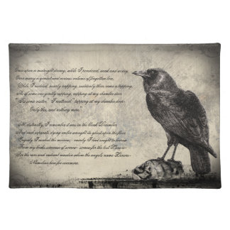 The Raven Distressed Style Gothic Horror Place Mat