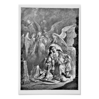 The Raven Edgar Allan Poe Illustration Poster