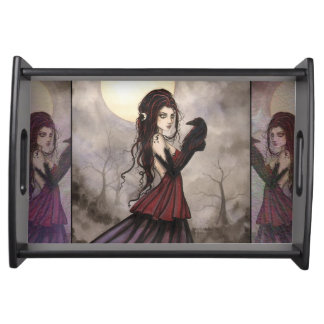 The Raven Gothic Fantasy Art Food Trays