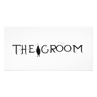The Raven Groom Personalized Photo Card