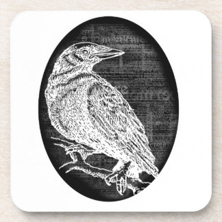 The Raven inspired graphic design Drink Coaster