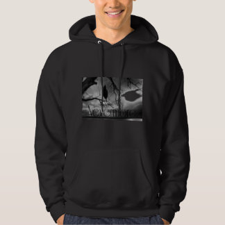 The Raven - Nevermore Sunbeams & Tree B&W Hoodie
