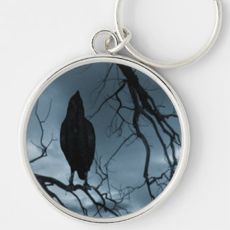 The Raven - Nevermore Sunbeams & Tree Blue Key Ring