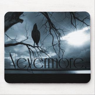The Raven - Nevermore Sunbeams Tree Blue Mousepad