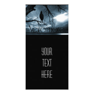The Raven - Nevermore Sunbeams Tree Blue Photo Cards