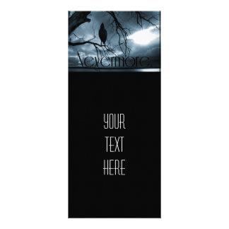 The Raven - Nevermore Sunbeams & Tree Blue Rack Card Design