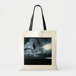 The Raven - Nevermore Sunbeams & Tree Blue Tote Bag
