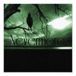 The Raven - Nevermore Sunbeams Tree - Green Personalised Invite