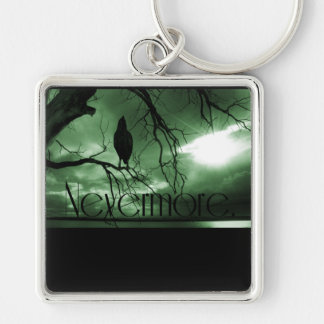 The Raven - Nevermore Sunbeams Tree - Green Key Ring