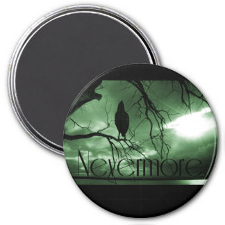 The Raven - Nevermore Sunbeams Tree - Green Magnet