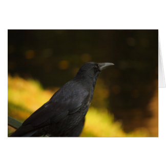 the raven note card
