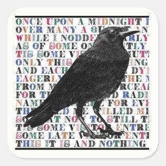 The Raven Poem Stickers