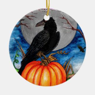 The Raven Round Ceramic Decoration