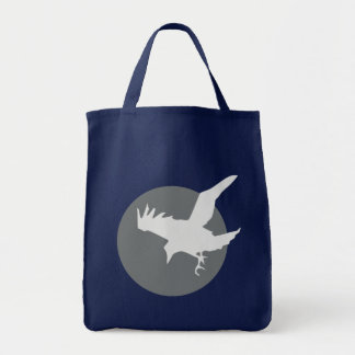 The Raven & the Moon Grocery Tote Bag