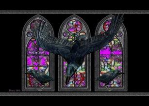 Samhain cards invitations zazzle the ravens samhain blessings greeting card m4hsunfo