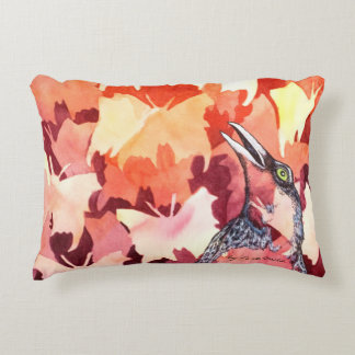 The ravens startles the butterflies decorative cushion