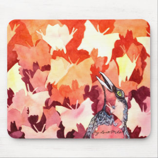 The ravens startles the butterflies mouse pad