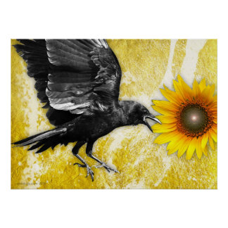 the ravens sunflower poster