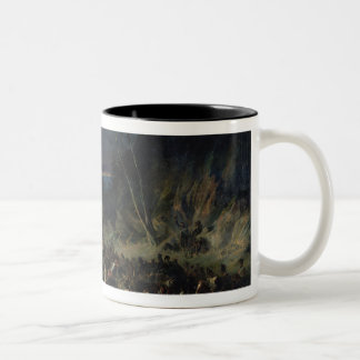 The Ravine, Campaign of 1809, 1843 Two-Tone Coffee Mug