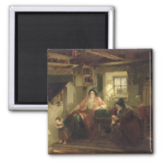 The Ray of Sunlight, 1857 Square Magnet