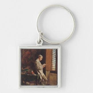 The Reader in White, 1857 Keychain