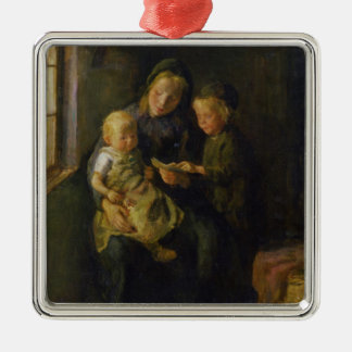 The Reading Lesson Christmas Ornament